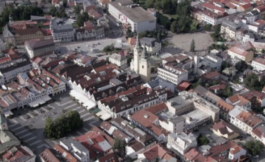 Aerial view of the Town Žilina