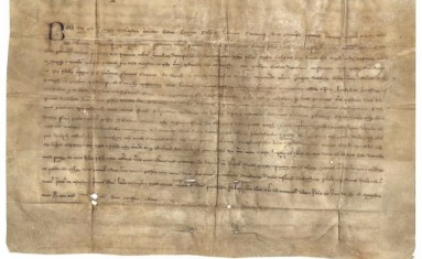 The archive's oldest document, dated 1263